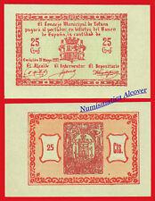 Billete local TOTANA 25 Centimos 1937 SC / UNC