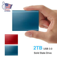 USB 3.0 High Speed Type-C US Portable 2TB External Solid State Drive Storage PC