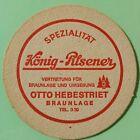 alter Bierdeckel Brauerei KÖNIG KG, Duisburg 🍺 K-90-1