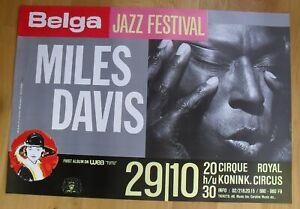 MILES DAVIS jazz original concert poster 1986