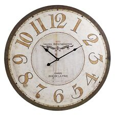 60cm Extra Large Wooden Wall Clock Vintage Retro Antique Distressed Shabby Chic 59 Rue De Lille