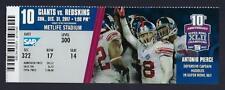 2017 NFL WASHINGTON REDSKINS @ NEW YORK GIANTS FULL UNUSED FOOTBALL TICKET