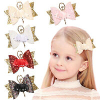 Ballerina Glitter Bow Sparkly Hair Clip for Women Girls Hairpin Kids Barrettes