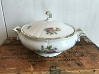Winterling China Flower Garden Gold Trim Bavaria Germany Covered Vegetable Dish