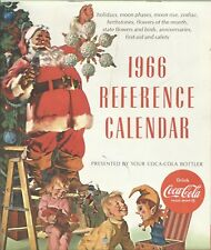 Coca Cola 1966 References Calendar - Calendario Pubblicitario USA