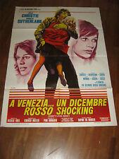 MANIFESTO,VENEZIA UN DICEMBRE ROSSO SHOCKING,SUTHERLAND,Don't Look Now Cristie