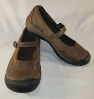Keen Presidio MJ Sz US 9 Women's Brown Leather Mary Jane Flat Buckle Shoes