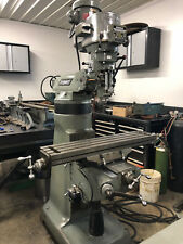 "9 x 42 2HP Late Model Bridgeport Vertical Milling Machine with 4"" Spacer / Riser"
