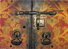 One Sri Lanka Used PICTURE POST CARD with used 5 Stamp, Temple's Door, Kandy