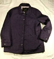 Women's Coach Signature C Lightweight Quilted Coat/Jacket Plum Purple Size M