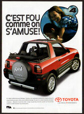 1998 TOYOTA RAV 4 Vintage Original Print AD - Red car photo French Canada fun