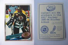 1995-96 Panini NHL stickers #302 Lacher Blaine  SP metal  bruins