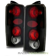 For 97-01 Jeep Cherokee Euro Black Altezza Tail Lights Rear Brake Lamps