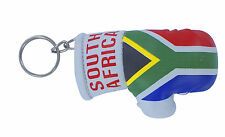 mini boxing gloves keychain keyring key chain leather ring Flag south africa