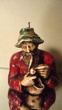 FIGURE WAX CANDLE * VINTAGE SAILOR SMOKING PIPE