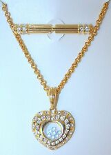 NOLAN MILLER *NEW* NECKLACE/BROOCH SET INTERCHANGEABLE WITH FLOATING CRYSTALS
