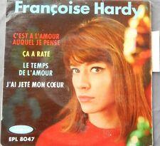 """Françoise HARDY """" le temps de l'amour """" EP avec languette et centreur"""