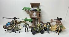 Soldier Force Chap Mei Commando Military Figures Jeep Helicopter ATV Tree Scout