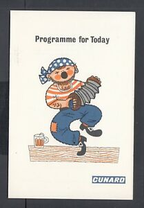 """CUNARD RMS CARINTHIA MAY 15 1965 PROGRAMME OF EVENTS 5"""" x 7.5"""""""