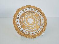 Meissen Prunkteller um 1800 Reliefdekor/Gold D 21 cm