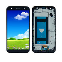 For LG X Charge US601 SP320 X500 M322 M320G LCD Screen Touch Digitizer +Frame