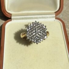 9CT Gold 375  Diamond Ring, Size 01/2, Hm 375 0.50CT Clear Sparkling Diamonds