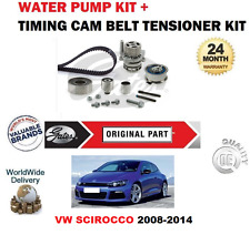 Pour VW Scirocco 2.0 Tdi 16v Bluemotion 2008-2014 Kit Courroie Distribution +