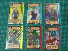 DRAGON BALL Z CARDDASS PART 34 PRISM 6 CARDS FULL SET