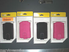 Apple iPod CLASSIC VIDEO GENUINE INIT LEATHER SUEDE CASE Black PINK NEW In Box