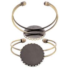1pc Antique Bronze Bangle Bracelet Blank Base Fit 25mm Cabochon for DIY Making
