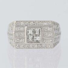 Men's Composite Diamond Ring - 14k Gold Princess Cut & Round Brilliant 1.80ctw