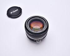 Nikon NIKKOR 50mm f/1.4 Prime Lens Ai with Caps Full Frame  (#7187)