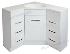 Bathroom Corner Vanity 900 X 900 Left and Right Drawers High Gloss