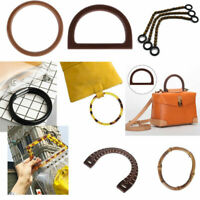 Women Round Shaped Resin/Wooden Handle Replacement For Purse Beach Handbag Bags