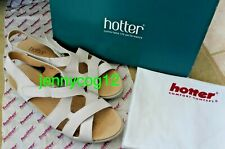 Hotter SALOU COMFORT CONCEPT Open Toe Low Leather Slingback Sandals 6.5 STD