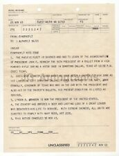 "John F. Kennedy Naval Document 11/23/63 ""Pacific Fleet Learns of Assassination"""
