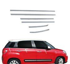 2012-2018 Fiat 500 L  Chrome Windows Frame Trim 4 Door 6Pcs S.Steel