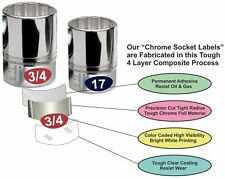 Chrome Socket Labels - Ratchet Sets and Hand Tools & Sockets 180 lables 3pack