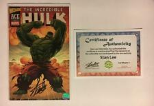 INCREDIBLE HULK WIZARD ACE EDITION SIGNED STAN LEE ACETATE COVER #1