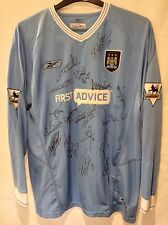 Manchester City Multi Signed 2003-2004 Home Shirt Kevin Keegan ++++