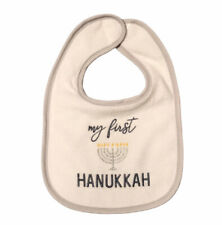 """New listing Baby Bib Embroidered """"My First Hanukkah� Nwot"""