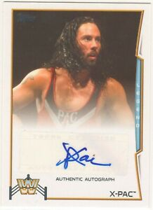 X-PAC - WWE 2014 - AUTHENTIC AUTOGRAPH AUTO CARD - TOPPS 2014