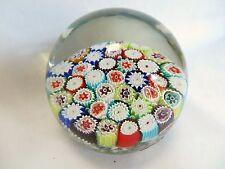 Vintage Murano Glass Italy Millefiori Star Flowers Art Italian Glass Paperweight