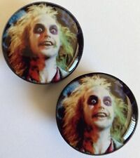 1 Pair of 16 mm (5/8 inch) Beetlejuice Acrylic Plugs