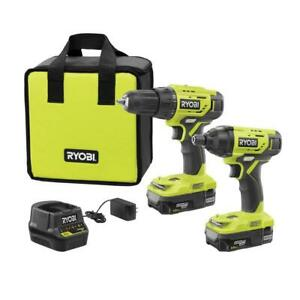 Ryobi 18-Volt ONE+ Lithium Ion Cordless Drill/Impact Driver Combo Charger Bag