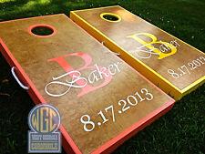 """Baker"" Design Custom Personalized Cornhole Board Set"