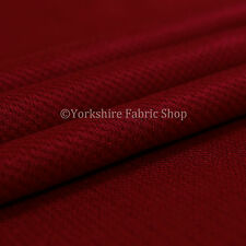 10 Metres Of Soft Cosy Chenille Texture Velvet Interior Upholstery Fabric Red