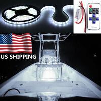 Wireless 16.4ft White Boat SMD 300 LED Strip Light Flexible IP67 Waterproof 12V