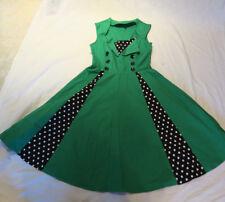 Pin Up Women's Small Green Rockabilly Dress