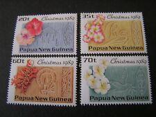 PAPUA NEW GUINEA, SCOTT # 725-728(4),1989 COMPLETE SET CHRISTMAS ISSUE MH
